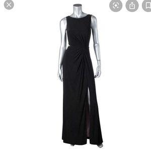 • Aqua Dresses Maxi Black Cut-out Dress •